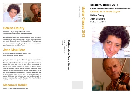 2013年5月8−12日、ラ・ロッシュギュイヨン城マスタークラスパンフレット