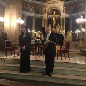 Poulet, Kaneko, Concert Chausson 14 mars 2015 Paris St Vincent de Paul