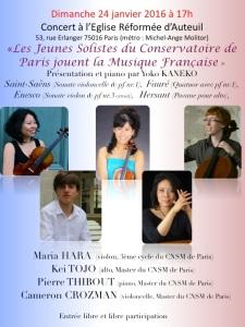 concert Auteuil 24 janvier 2016
